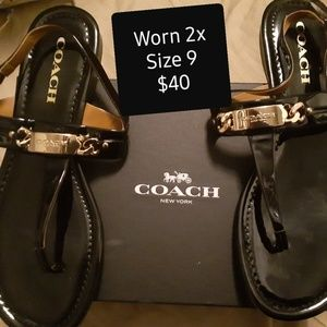 Coach Patent Leather Sandals
